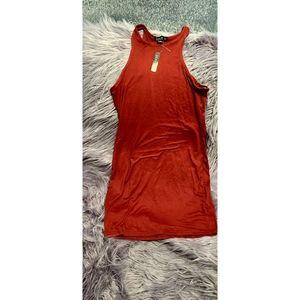 Cute Burgundy Stretch Bodycon Dress Size L NWT